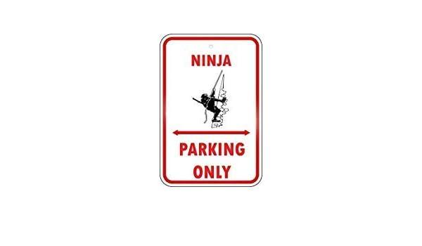 EstherMi19 Ninja Parking Only Funny Metal de Aluminio ...
