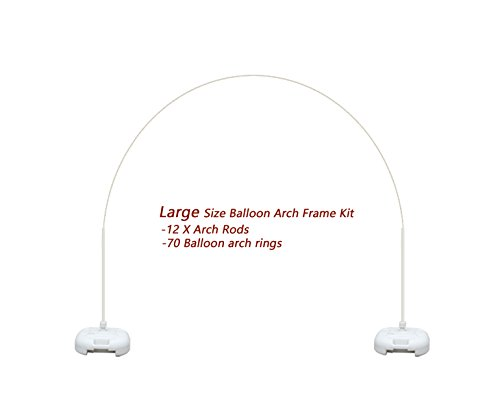 Balloon Arch Frame Kit Stand Weddings, Proms, Birthday Party Balloons Prop, 12 Rods by Lioong