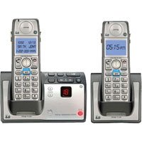 GE DECT 6.0 Advanced Silver Cordless Phone with - Ge Digital Cordless Phone