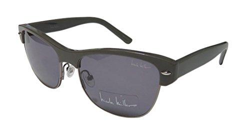 Nicole Miller Rector C01 Khaki Plastic and Metal Sunglasses Nicole Miller Womens Accessories