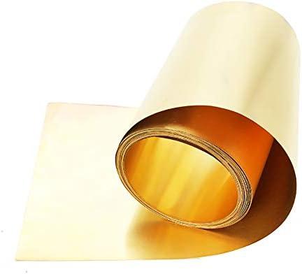 SOFIALXC Messing Kupferfolie Blatt Band Leitende Rolle Messing Rollenfolie Für Metallbearbeitung (200 Mm X 1000 Mm)-Thickness0.05mm