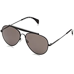 Tommy Hilfiger Th1454s Aviator Sunglasses, Shn Black, 58 mm