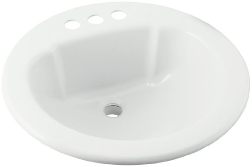 STERLING 75020140-0 19-Inch by 19-Inch Self Rimming Round Lavatory, White