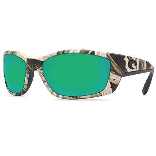 Costa Del Mar Sunglasses - Fisch- Glass / Frame: Mossy Oak Shadow Grass Lens: Polarized Green Mirror Wave 580 ()