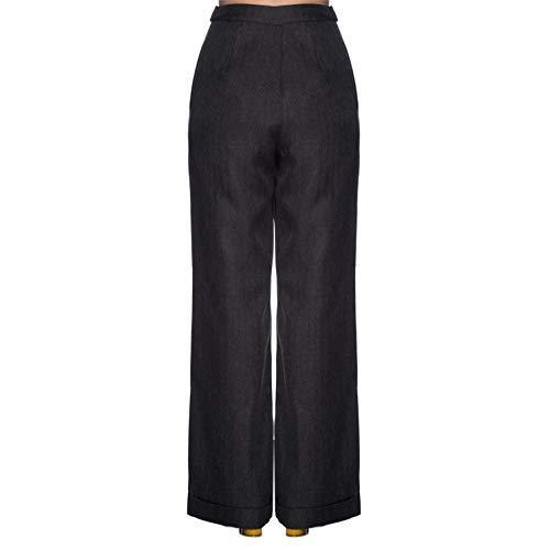 Vintage Retro 1950s Ancha Dancing Pernera Alta Pantalones Gris Cintura 1940s Days 5IqtBC