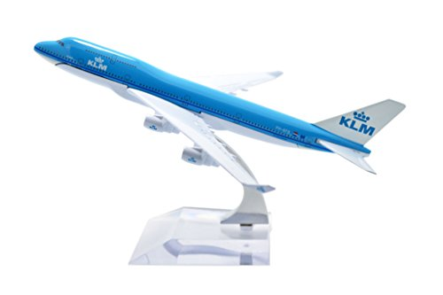 TANG DYNASTY(TM) 1:400 16cm Boeing B747-400 KLM Metal Airplane Model Plane Toy Plane Model