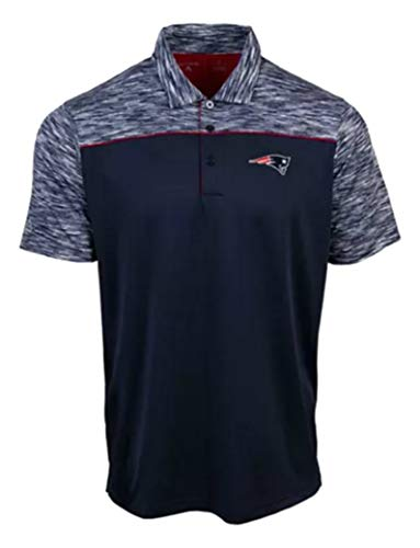 NFL Team Apparel New England Patriots Size 3X-Large 3XL Performance Final Play Polo Shirt - Navy Blue