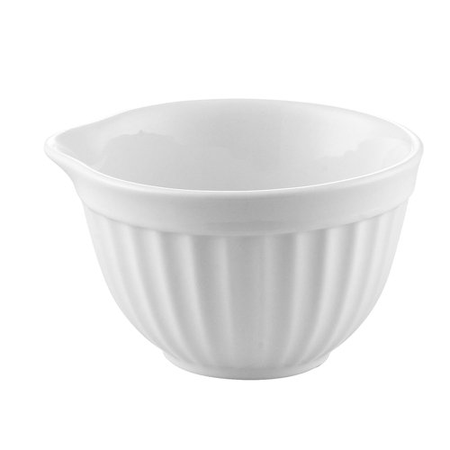 CAC China RKF-202 Porcelain 2 oz Round Fluted Ramekin with Pour Spout (Box of 48), 2-3/4