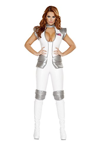 Sexy Women's 1pc Space Astronaut Commander Costume (L) (Womens Astronaut Costume)
