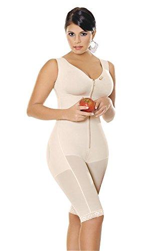 Girdle Liposculpture - Fajas Salome Women's 0523 Capri Liposculpture Girdle With Bra S Nude