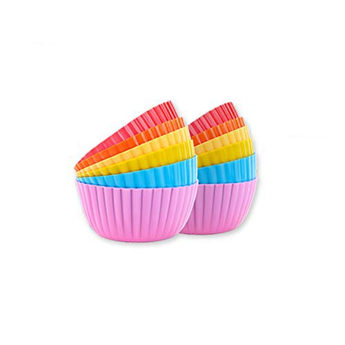 Cupcake Liners/Baking Cups/Muffin Cups for Kitchen bakingPack of 12 Vibrant Muffin Molds in Storage JarLiflicon