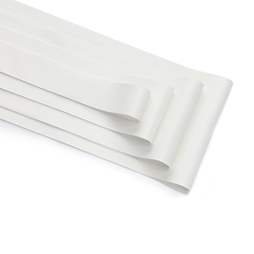 Neotrims PU Faux Leather Ribbon Tape Trimming, Cut in 4 widths, Leatherette Supple Binding,Coach Pram Strap Strip. 5 Colours. PU Front, Satin Non Woven Fabric Bonded Back. Off White 25mm-5yards