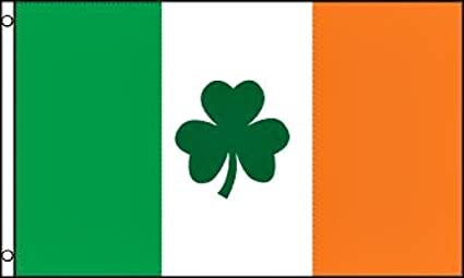 Amazon Com Irish Shamrock Flag 3 X5 Ireland Clover Garden