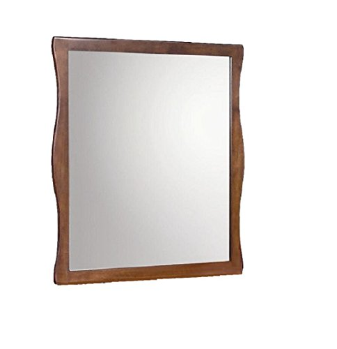 New Spec Modern Styled Mirror with Wood Laminate Frame Goes Well With Ontario Set, French Cherry by New Spec Inc