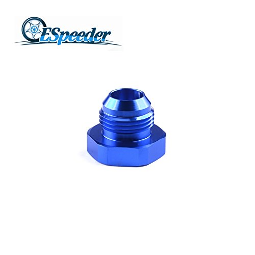 Daphot Store - AN12 Straight Anoized Aluminum Fuel Adapter Fittings Flare Plug Adaptors Blue