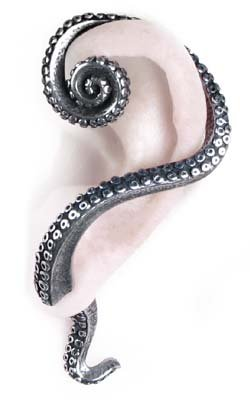Alchemy Gothic Kraken Single Earring