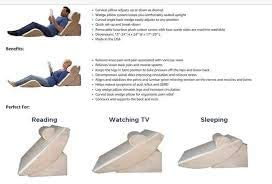 adjustable bed wedge pillow set with