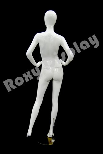 ROXYDISPLAY/™ Abstract Female Egg Head Mannequin Glossy White Fiber Glass MD-A4W1-S
