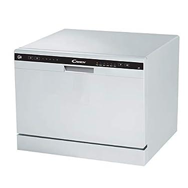 Candy-CDCP-6-Lavavajillas-pequeno-Altura-438-cm-6-servicios-6-Programas-Sistema-antidesbordamiento-Inicio-diferido-Blanco
