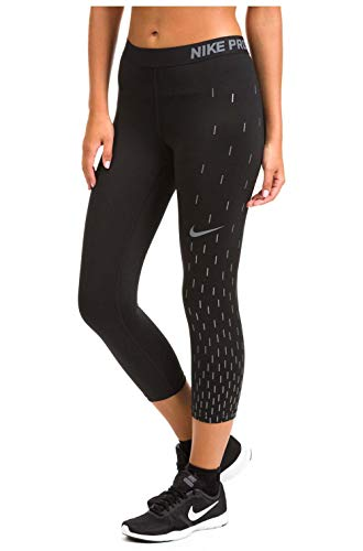 Dri Fit Capri Pants - Nike Women's Linear Rain Dri-fit Capri Leggings-Black-Small