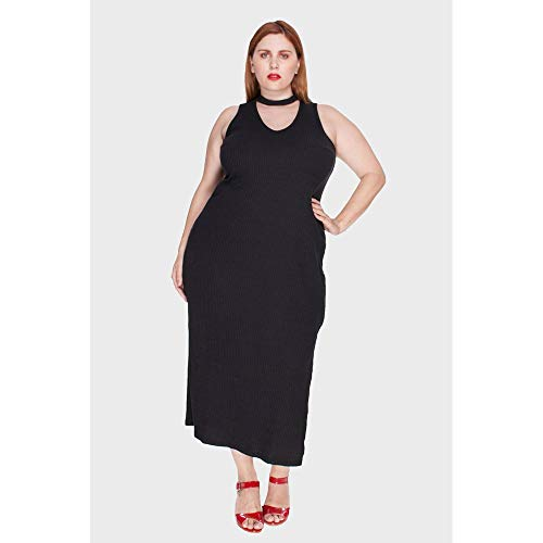 Vestido Turim Plus Size Preto-58/60