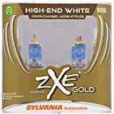 SYLVANIA - 9006 (HB4) SilverStar zXe GOLD High Performance Halogen Headlight Bulb - Headlight & Fog Light, Bright White Light Output, Best HID Alternative, Xenon Charged Technology (Contains 2 Bulbs)