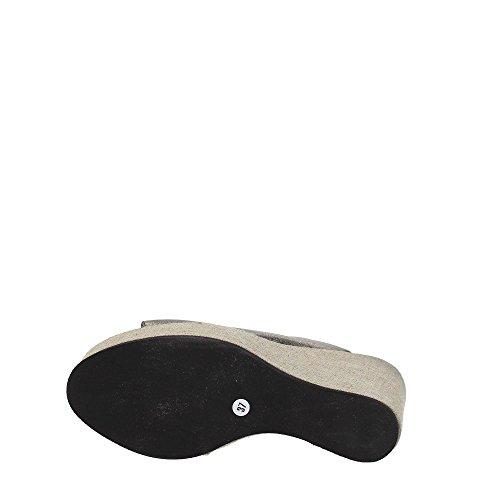 Compensé Sandale Rouille Mod cm Cuir 1VERA124 Femmes Colli 100 Dei Fabbrica 13 Noir q0tw7qv