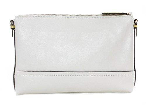 Guess Clutch Handtasche Tasche Roh-Weiß #GU023A