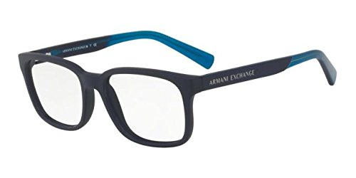 Armani Exchange AX3029 Eyeglass Frames 8183-54 - Matte Blue - Glasses Optical Armani