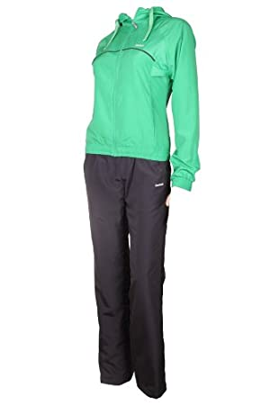 cb5807655ff7 Reebok Woven womens Tracksuits sweat training sports jogging suits for women  ladies Green grey Size 14