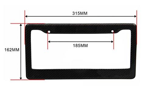 ICBEAMER Waterproof Black Plastic + Gloss Carbon Fiber on top Auto Vehicle Truck Van License Plate Frames by ICBEAMER (Image #5)