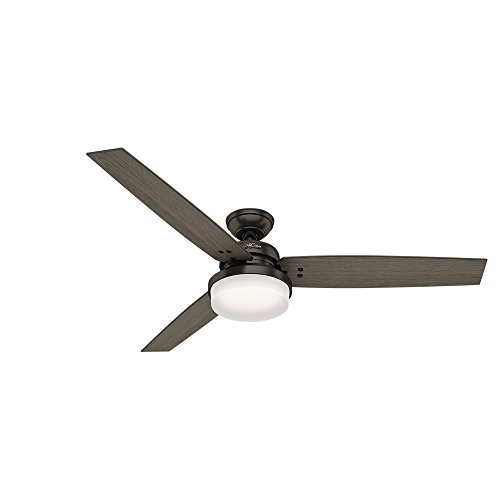 (Hunter 59457 Hunter Sentinel Ceiling Fan with Light with Handheld Remote, 60