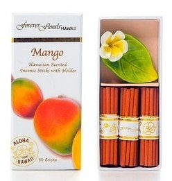 Tikimaster MANGO INCENSE W/CERAMIC HOLDER - HAWAIIAN GIFT BOX SET