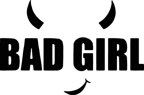 Bad Girl Devil Horns Car Window Tumblers Wall Decal Sticker Vinyl Laptops Cellphones Phones Tablets Ipads Helmets Motorcycles Computer Towers V & T Gifts