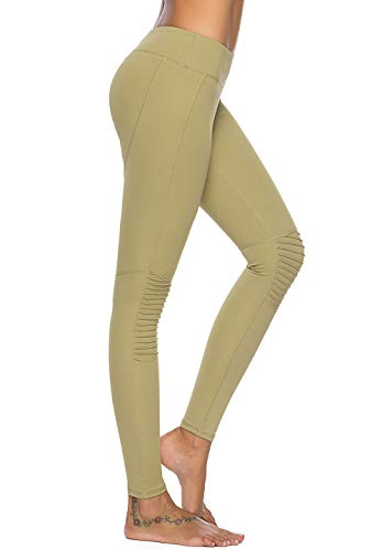 (Mint Lilac Women's Training Yoga Pants Athletic Workout Leggings with Lace Trim Large Green)