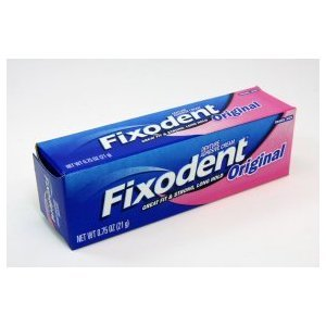 Fixodent denture adhesive cream, original, strong and long hold - 0.75 oz (Case of 24) by Fixodent 00862