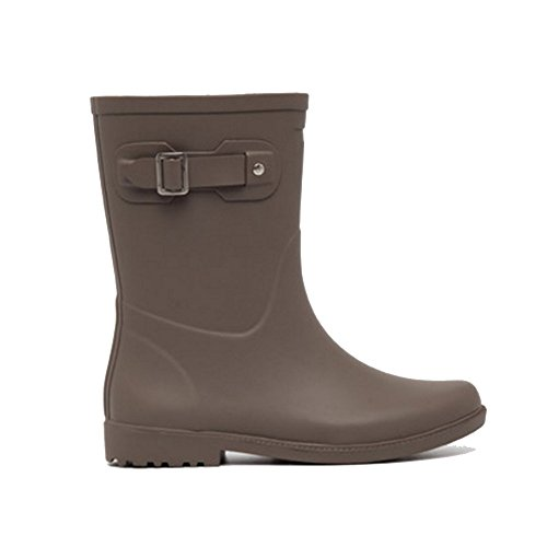 NAN Rain Boots New Anti-fashion Slippery Waterproof Tube Rain Boots Women Spring And Summer Autumn And Winter Series New Double Color Rain Boots (Color : Brown, Size : EU39/UK6/CN39) Brown