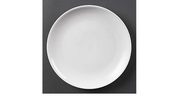 Paquete de: 6 Platos sin borde blancos 280mm Olympia: Amazon.es: Hogar