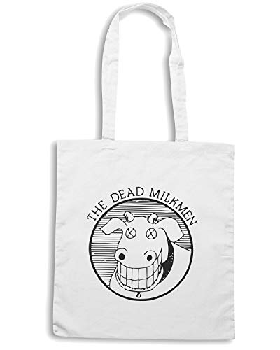 FUN1158 Shirt MILKMEN DEAD CU COW Shopper Speed Borsa 3 3 Bianca 1 R1Hnqw4Id