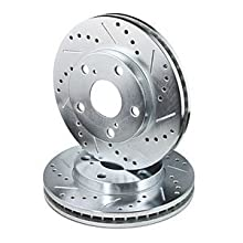 Power Stop JBR932XPR Rear Evolution Drilled & Slotted Rotor Pair