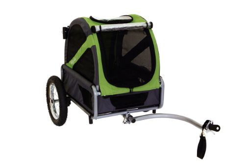 DoggyRide Mini Dog Bike Trailer, Spring Green/Grey by DoggyRide