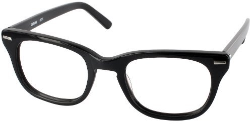 Freeway 54 (Mens XL Fit) Single Vision Full Frame Designer Reading Glasses, Black, +1.50 by - Shuron Glasses