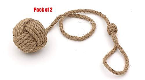 Pair of Nautical Curtain Tie Back/Jute Tiebacks/Curtain Holdbacks/Nautical Home Decoration ()