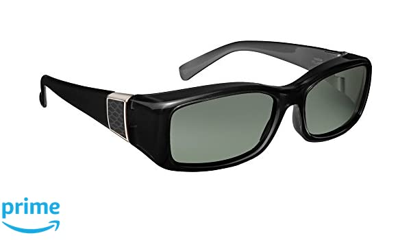 204b37af4b Haven Fitover Sunglasses Freesia in Black with Grey Leather   Polarized  Grey Lens