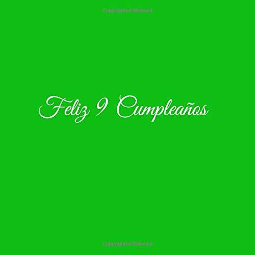 Feliz 9 cumpleaños: Libro De Visitas 9 Años Feliz Cumpleanos ...
