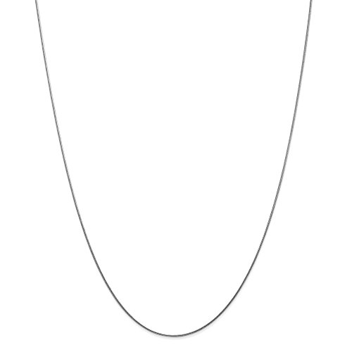 14K White Gold .80mm Round Snake Chain