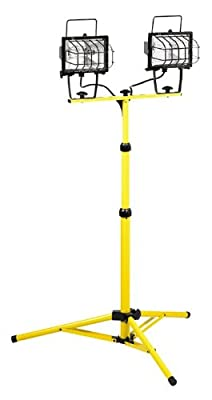 US Wire 46003N HALOGEN PORTABLE LIGHT with TRIPOD, 7' Height, UL. 1000W