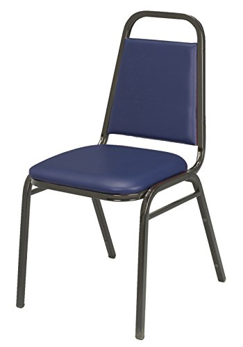 - KFI Seating IM810 Armless Stacking Chair, Commercial Grade, 1.5-Inch, Navy Vinyl/Black Frame, Made in the USA