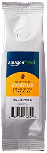 AmazonFresh Direct Trade Rwanda Coffee, Light Roast, Ground, 1.75 Ounce