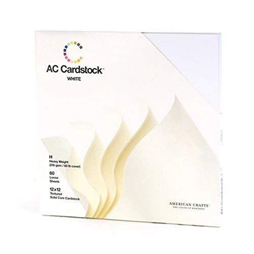 12 x 12-inch White AC Cardstock Pack by American